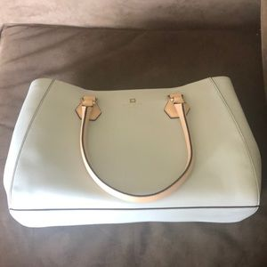 NWT Kate Spade light gray w/ beige purse